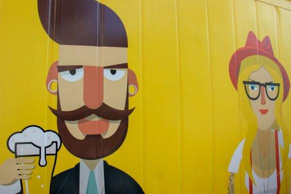 Beer art at Sauce Brewing in Marrickville, Sydney, Australia