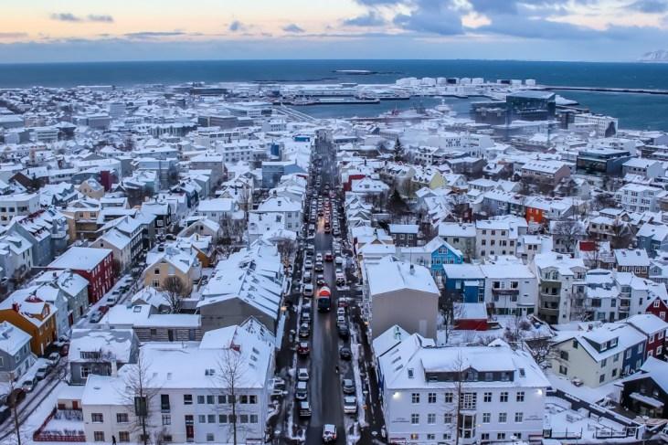 City views, Reykjavik, Iceland, winter