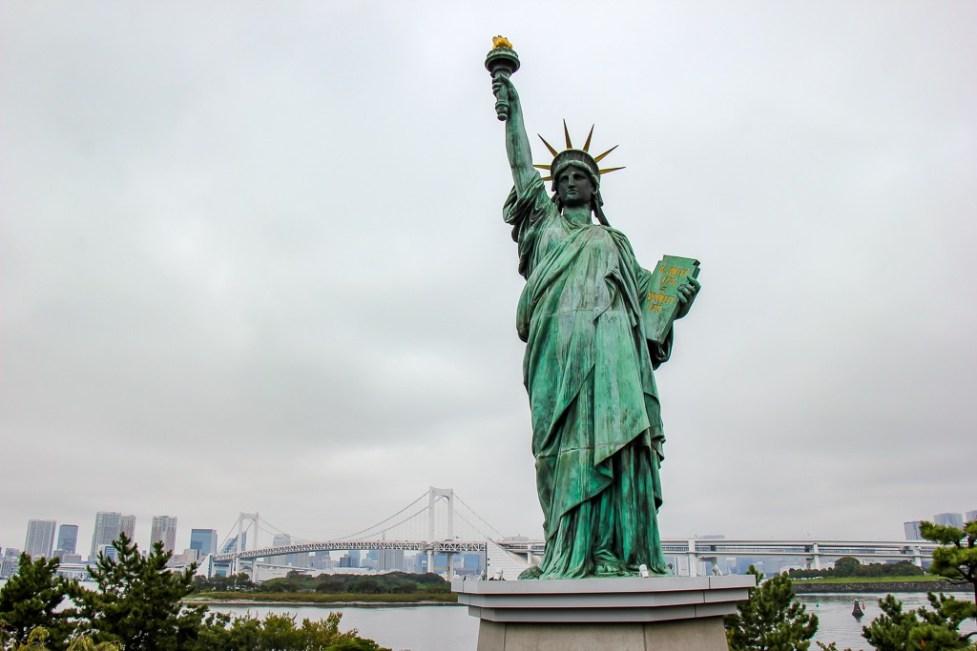 Odaiba Statue of Liberty replica in Tokyo, Japan