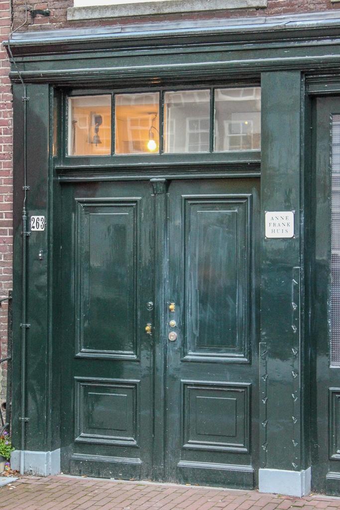 Door to Anne Frank House, Amsterdam, Netherlands