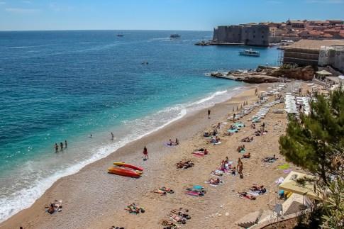 Banje Beach and Dubrovnik Old Town, Croatia