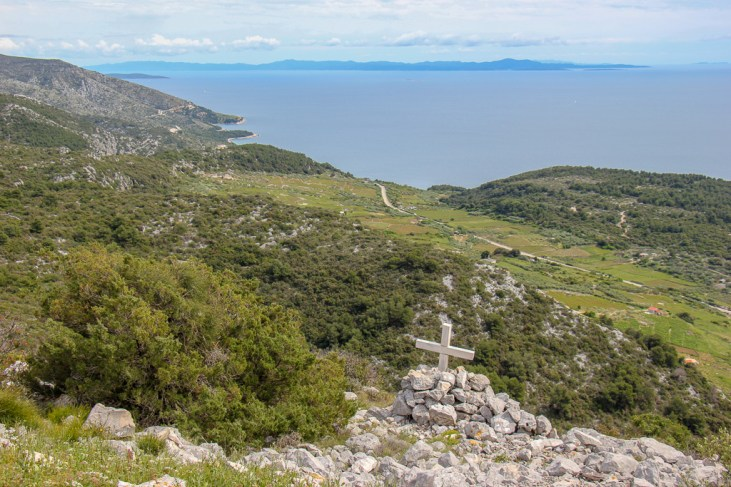 Hiking trails on Hvar Island hilltops in Croatia