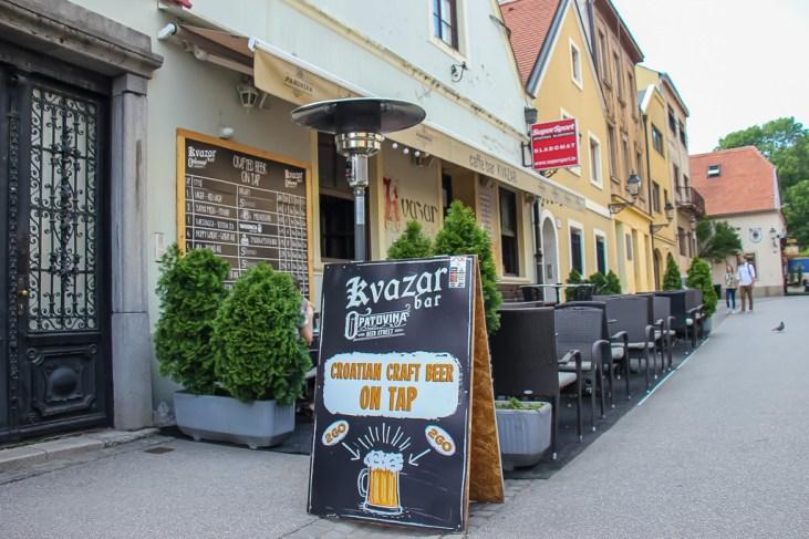 Opatovina Beer Street in Zagreb, Croatia