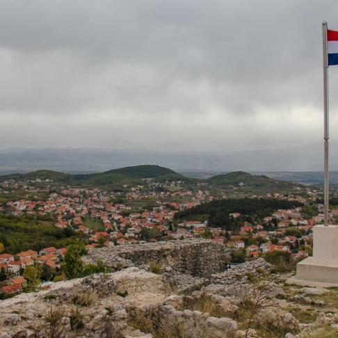 Old Town hilltop in Sinj, Croatia