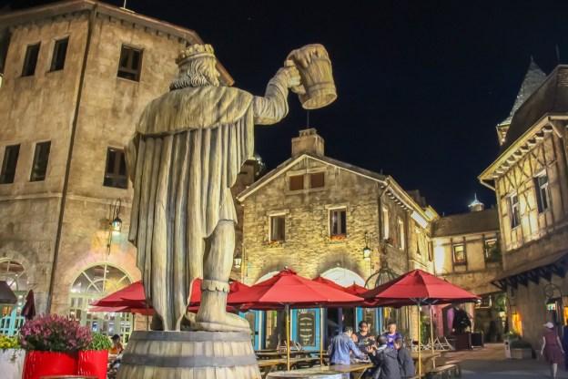 Beer Man statue at Beer Plaza at BaNa Hills in Da Nang, Vietnam