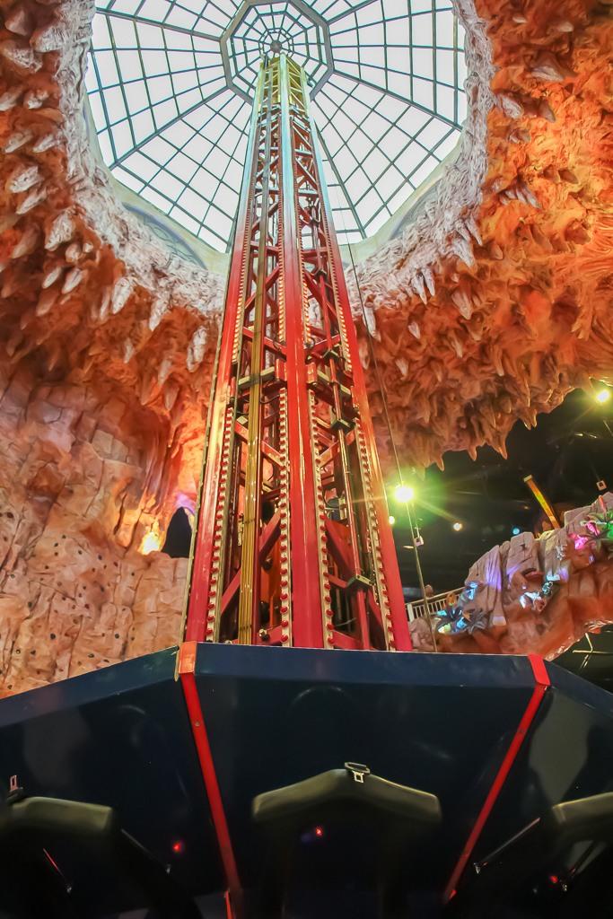Freefall Tower at Fantasy Park in Ba Na Hills in Da Nang, Vietnam