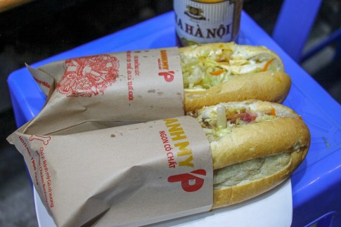 Banh Mi Sandwiches from Banh My P in Hanoi, Vietnam
