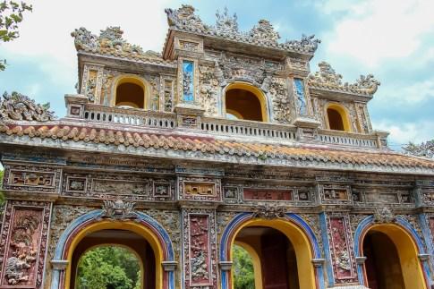 Colorful Gate, Imperial City, Hue, Vietnam