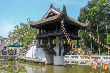 Wooden One Pillar Pagoda in Hanoi, Vietnam