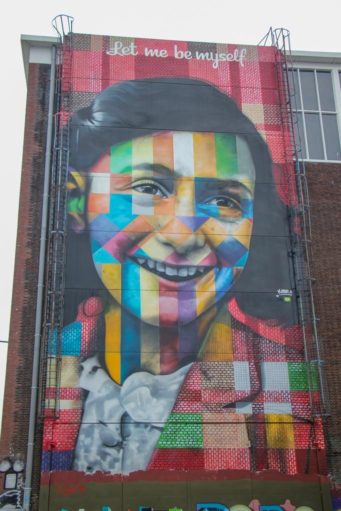 Street Art, Anne Frank, Amsterdam, Netherlands