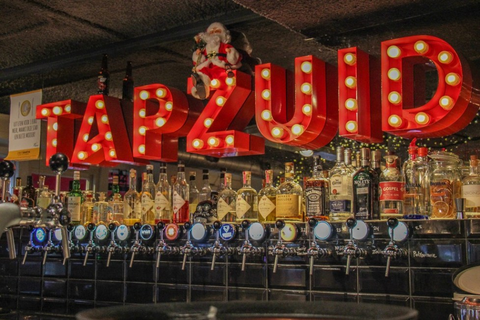 Colorful Bar at Tap Zuid Beer Pub Amsterdam