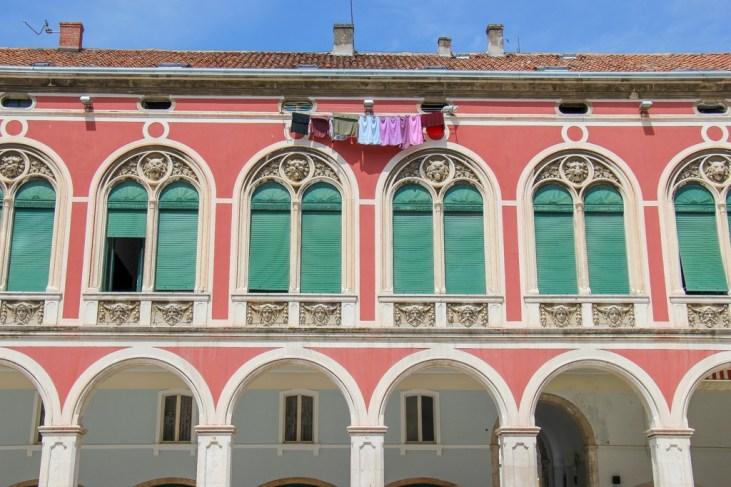 Colors of Republic Square, Split, Croatia