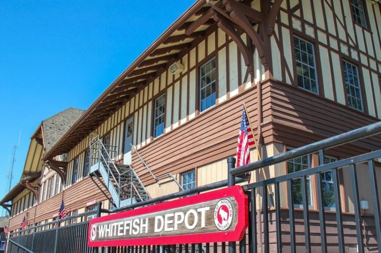 Amtrak classic station, Whitefish, Montana