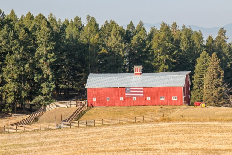 More than nature and wildlife, American Flag Barn, Montana Road Trip