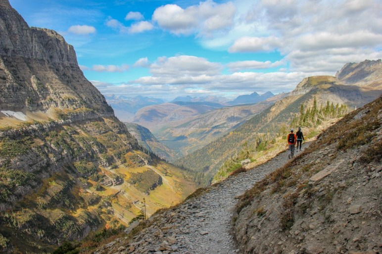 View as you begin Hiking The Highline, Glacier National Park, Montana