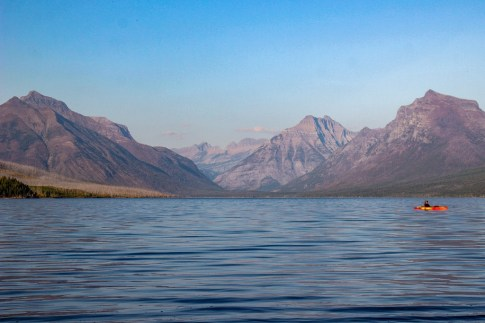 Best view might be from a Kayak, Glacier National Park, Montana