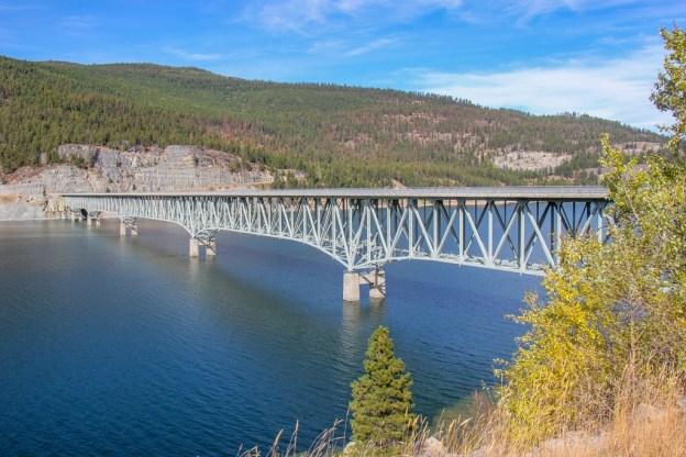 The best view of Koocanusa Bridge, Montana Road Trip