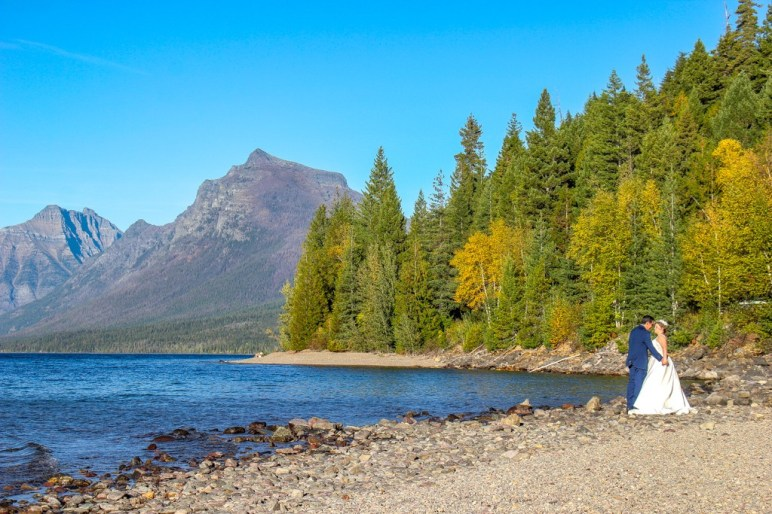 Perfect day for a Lake McDonald Wedding, Glacier National Park, Montana