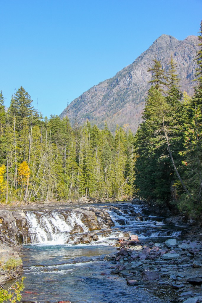 Waterfall on McDonald Creek, Glacier NP, Montana