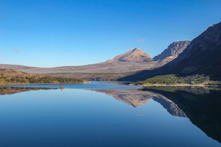 Amazing Reflection at Saint Mary Lake, Glacier National Park, Montana