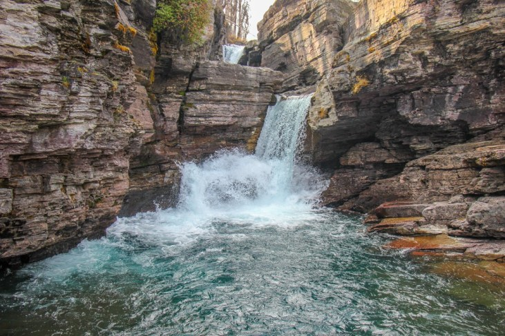 Best View of St Mary Falls, Glacier National Park, Montana