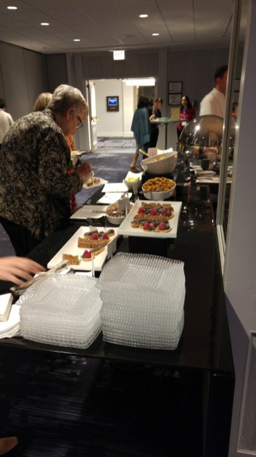 Food at reception sponsored by Google.