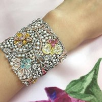"The Exquisite Boghossian ""Manuscript"" Colored Diamond Bracelet"