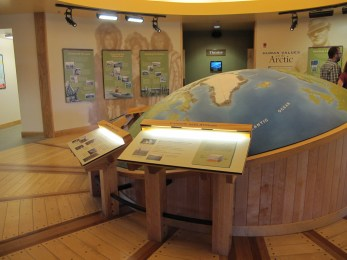 A big globe in the central room beckons you to learn about the north.