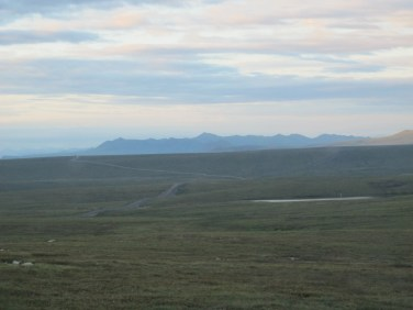 The view across the tundra from a highpoint