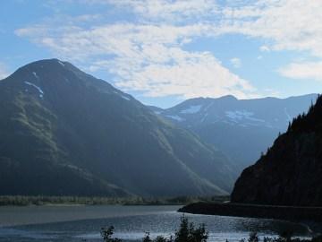 Just around this corner is the Portage Glacier.