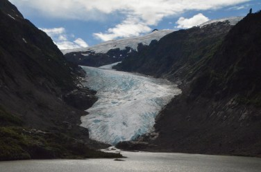 Bear Glacier and its meltwater lake.