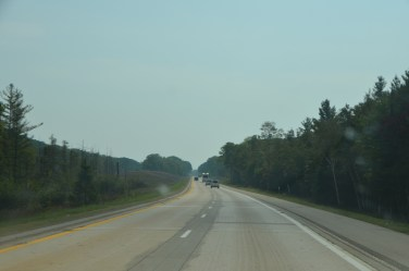 Sometimes I worry about places that are so flat. Nice road heading south through Michigan.