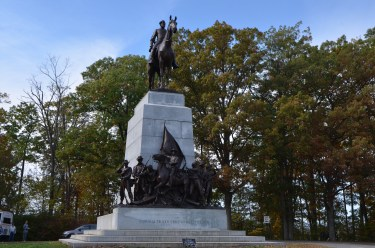 Monuments to the fallen dot the area. This is the main southern monument (Virginia)