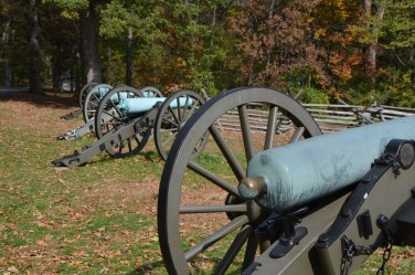 Cannons were collected after the war, carriages were destroyed. But many were put back out for display and new carriages built to hold them.