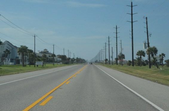 Next day - heading along, pleasant, flat, straight drive.