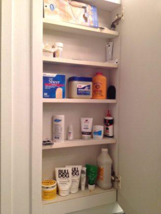 My bathroom medicine cabinet.