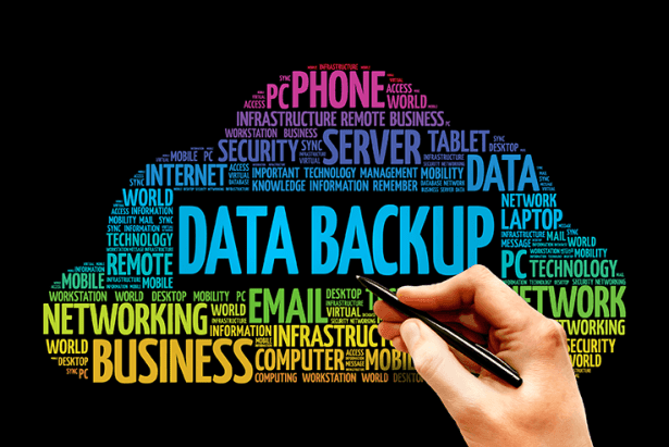 Data Backup word cloud concept 72 ppi - Backup and Disaster Recovery for Small Business