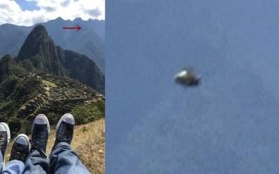 UFO appears above ancient Inca site of Machu Picchu, Peru