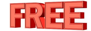Red hologram letters reading FREE