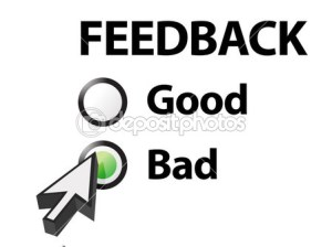 Feedback depositphotos_13661330-bad-selected-on-a-feedback-question
