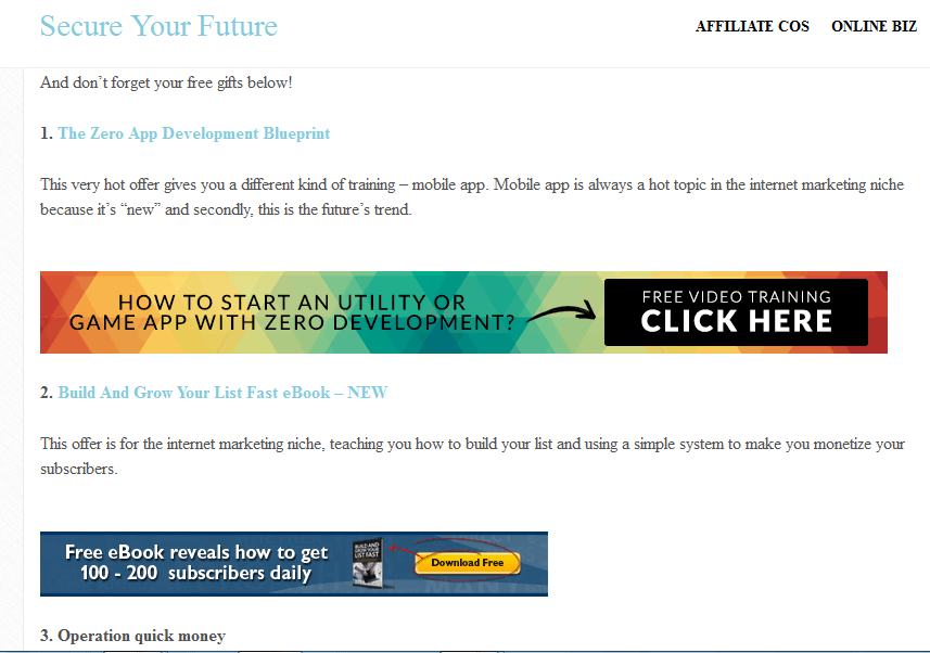 Signup form in artcle