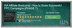 Affiliate bootcamp phase 7