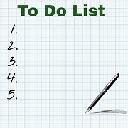 An empty list of tasks to accomplish