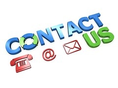 Telephone, , envelope with contact us wirtten at the top
