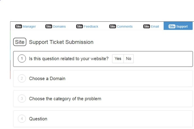 Site support ticket system