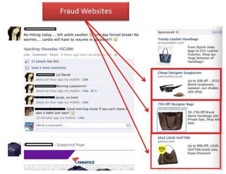 Facebook fraud website
