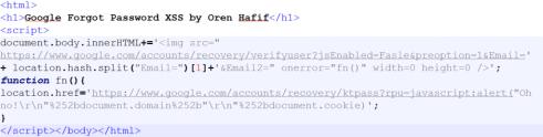 Google mail attack code