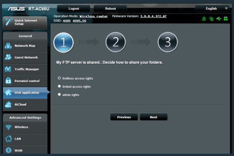 ASUS Routers admin panel