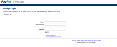 Paypal manager account payflow pwd reset